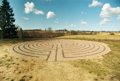 Outdoor labyrinth Royalty Free Stock Photo