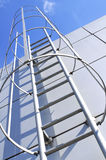 Outdoor ladder of modern architecture Stock Photos