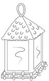 Outdoor lamp coloring page Royalty Free Stock Photo