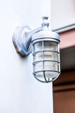 Outdoor lamp light mounted on wall Royalty Free Stock Photos