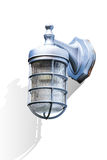 Outdoor lamp light mounted on wall Stock Image