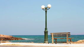 Outdoor lamp by the sea Royalty Free Stock Image