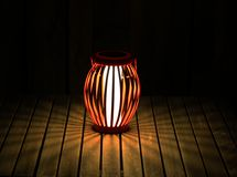Outdoor Lamp. Solar power lamp at night Royalty Free Stock Image