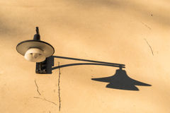 Outdoor lamp on a wall Stock Photography