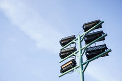 Outdoor lamppost. Giant outdoor lamppost with blue sky Royalty Free Stock Image
