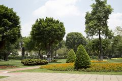 Outdoor landscapes design in Guangzhou Ersha Island. Outdoor landscapes design in, city Guangzhou Ersha Island ,Guangdong province China Asia Royalty Free Stock Image