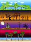 Outdoor Landscapes Scene Vector Illustration Collection vector illustration