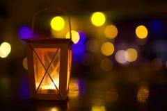 Outdoor lantern with dim light Stock Image