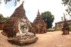 Outdoor large ancient Buddha of Yadana Hsemee Pagoda Complex. stock photography