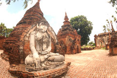 Outdoor large ancient Buddha of Yadana Hsemee Pagoda Complex. Stock Photography