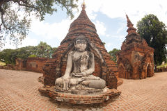 Outdoor large ancient Buddha of Yadana Hsemee Pagoda Complex. Royalty Free Stock Photos