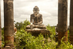 Outdoor large ancient Buddha of Yadana Hsemee Pagoda Complex. Stock Image