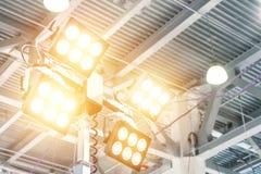 Outdoor LED spotlight. Modern, economical lighting equipment. Outdoor LED spotlight. Modern, economical lighting equipment royalty free stock photo