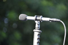 Outdoor Left Facing Microphone Stock Images
