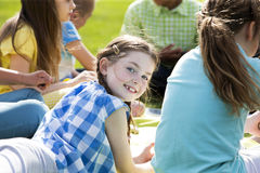 Outdoor lesson Royalty Free Stock Photography