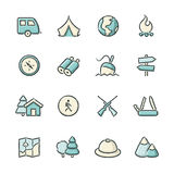 Outdoor Life Icons Royalty Free Stock Photo