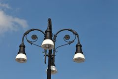 Outdoor lighting poles Stock Images