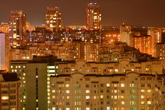 Lights of the night metropolis. Outdoor. Lights of the night metropolis Stock Photography