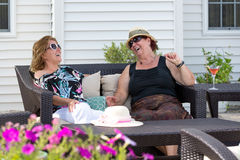 Outdoor Living Conversations Royalty Free Stock Photo