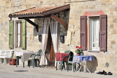 Outdoor living Italian style Royalty Free Stock Image
