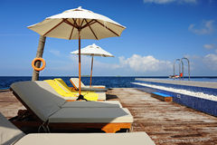 Outdoor Lounge Area Stock Photography