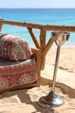 Outdoor lounge at seaside  Stock Photo