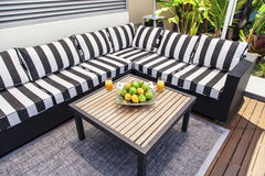 Outdoor lounge in summertime Stock Photo