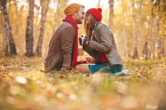 Outdoor lovers Stock Image