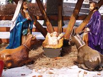 Outdoor manger scene Royalty Free Stock Photography