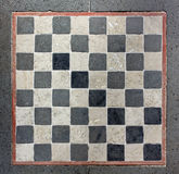 Outdoor Marble Chessboard Stock Photography