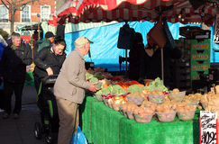 Outdoor market, Bedford, UK. Royalty Free Stock Image