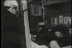 Outdoor market, lower east side, New York City, 1930s stock video