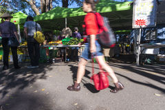 Outdoor market rush Royalty Free Stock Images