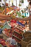 Outdoor market scene