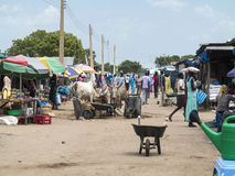 Outdoor market, South Sudan Royalty Free Stock Images