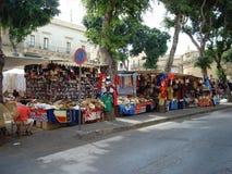Outdoor market. At Market Square, Victoria (Rabat), Gozo, Malta, Europe Royalty Free Stock Photo