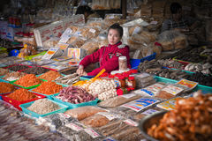 Outdoor Market Vendor, Nha Trang, Vietnam Royalty Free Stock Images
