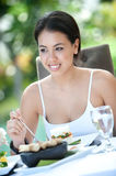 Outdoor Meal Stock Photo