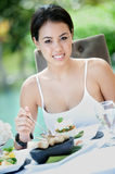 Outdoor Meal Royalty Free Stock Photo