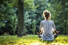 Outdoor meditation Royalty Free Stock Image