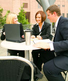 Outdoor Meeting Royalty Free Stock Image