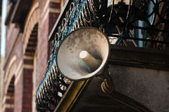 Outdoor megaphone Royalty Free Stock Photography
