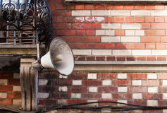 Outdoor megaphone Royalty Free Stock Images