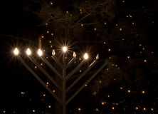 Outdoor Menorah Stock Image