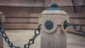 Outdoor Metal Chain Link Sidewalk royalty free stock photos