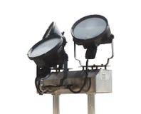outdoor metal spotlight Stock Photography