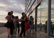 Outdoor milonga Amsterdam Royalty Free Stock Photography