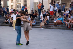Outdoor milonga Stock Images
