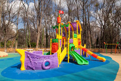 Outdoor modern design colorful attractive playground Royalty Free Stock Image