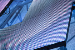 Outdoor modular LED panels as a decoration on the stage Stock Images